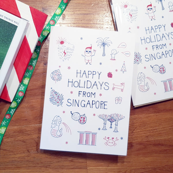 Happy Holidays from Singapore Greeting Card