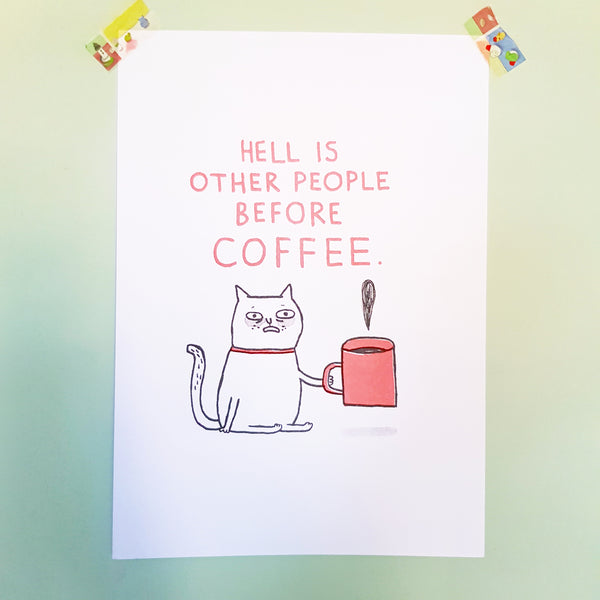 Hell Is Other People Riso Print A3