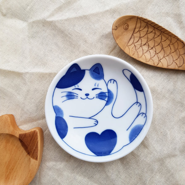 Blue Print Sleepy Kitty Mini Dish
