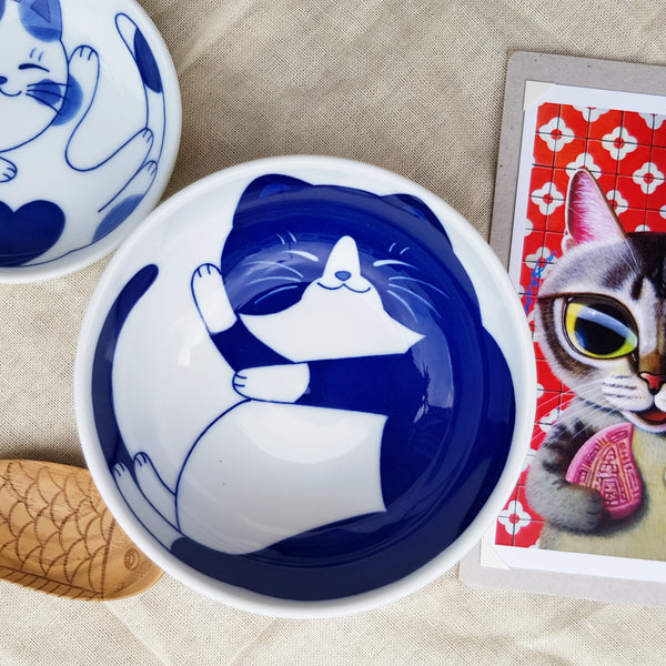 Blue Print Sleepy Kitty Bowl