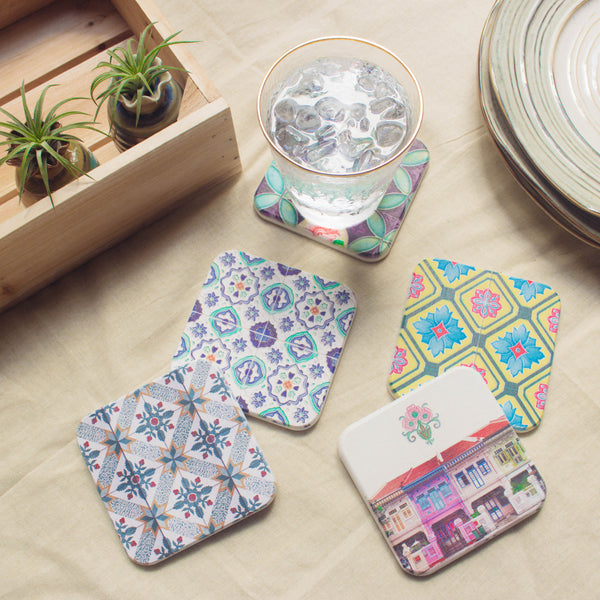 Peranakan Diatomite Coaster Collection