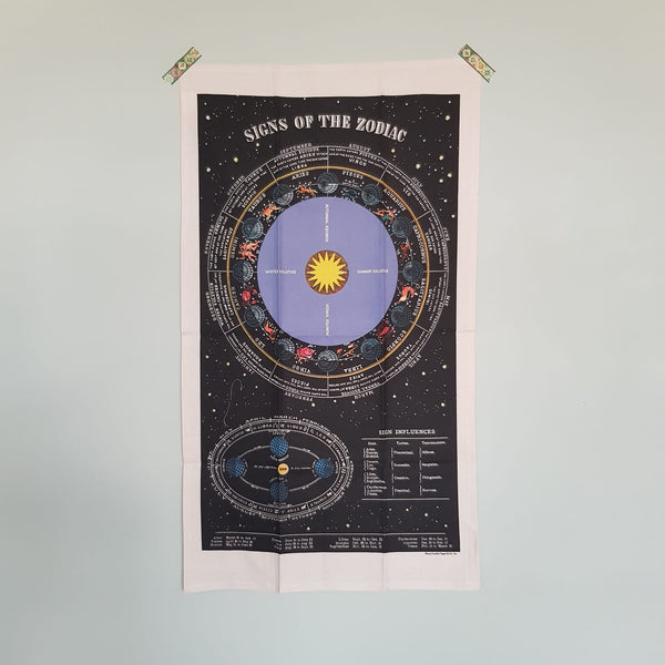 Vintage Zodiac Tea Towel