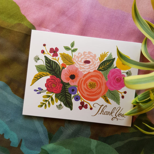 Thank You Floral Print