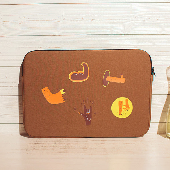Graphic Laptop Case Brown - 3 Sizes