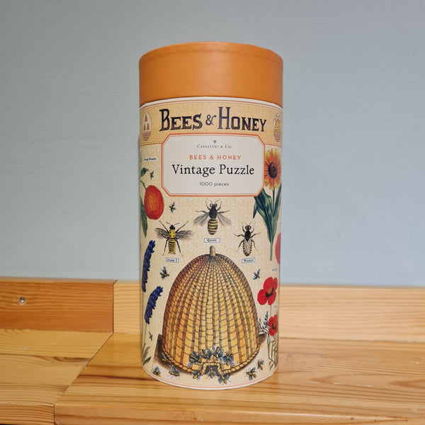 Vintage Bees & Honey Print 1000 piece Puzzle