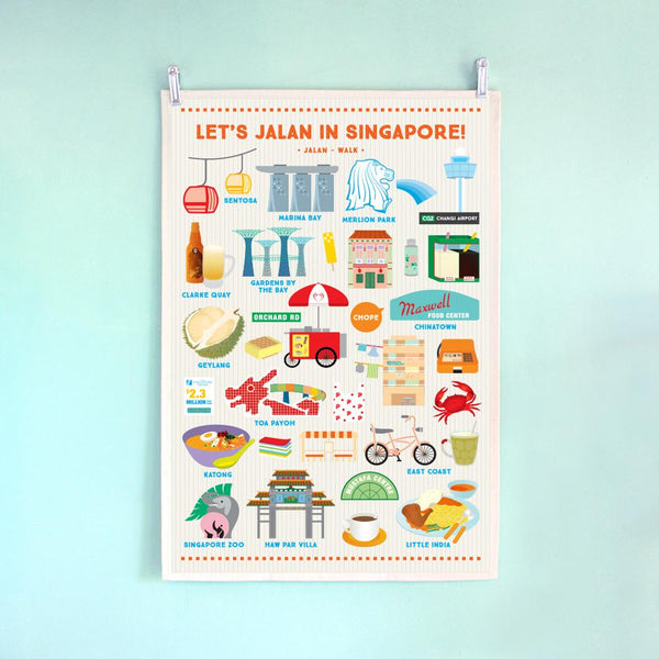 Singapore Theme Tea Towel