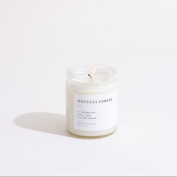 Montana Forest Minimalist Candle by Brooklyn Candle Studio
