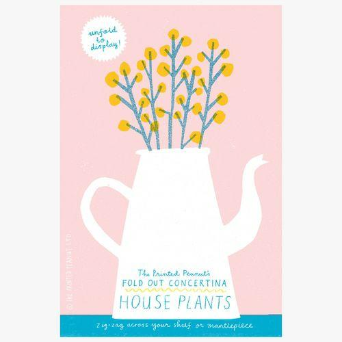 House Plants Concertina Book