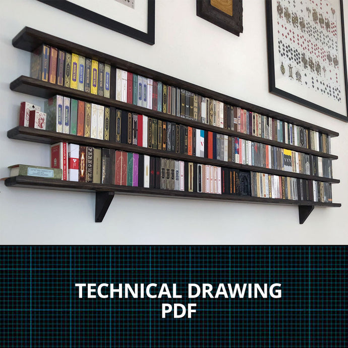 Playing Card Display - Technical Drawing