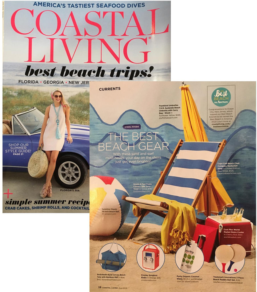 The June 2016 Issue Of Coastal Living Magazine Included Our Limited Edition  Nantucket Sling Beach Chair In Their List Of The Best Beach Gear. Thanks  Guys!