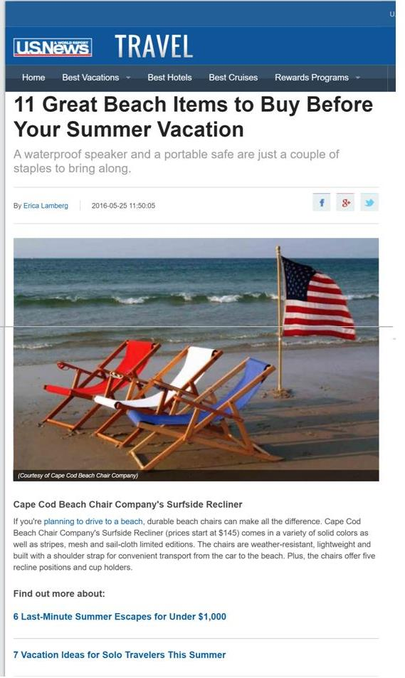 US News Greatest Beach Chair review