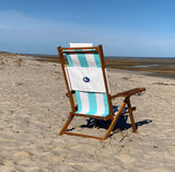 Nauset Recliner Sea Foam Stripe