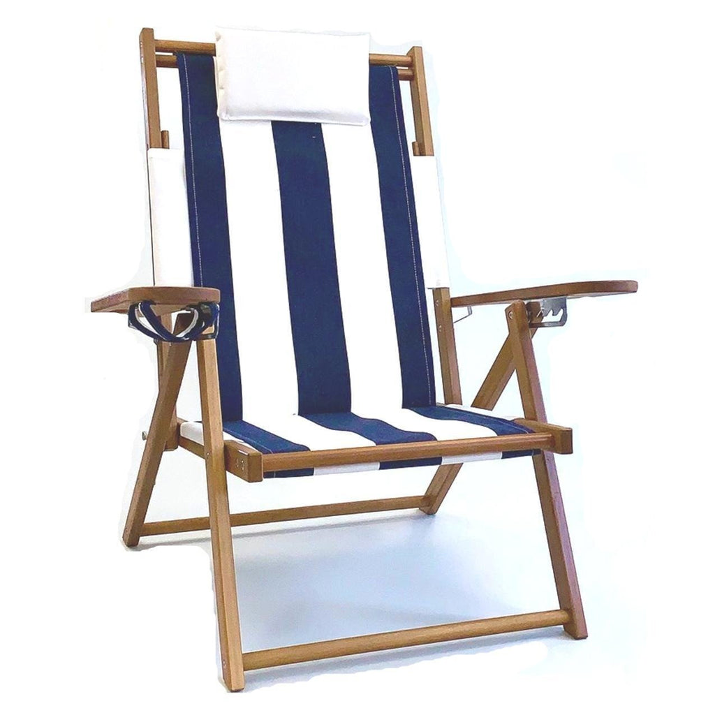 Nauset Recliner- Navy Stripe