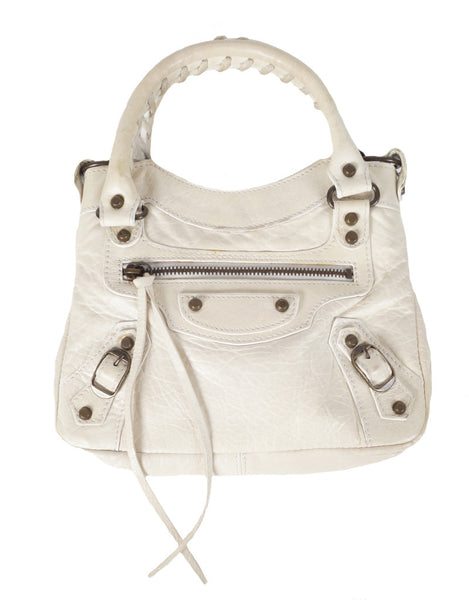 Classic City Mini Bag in Offwhite mit Spiegel NP:€1050