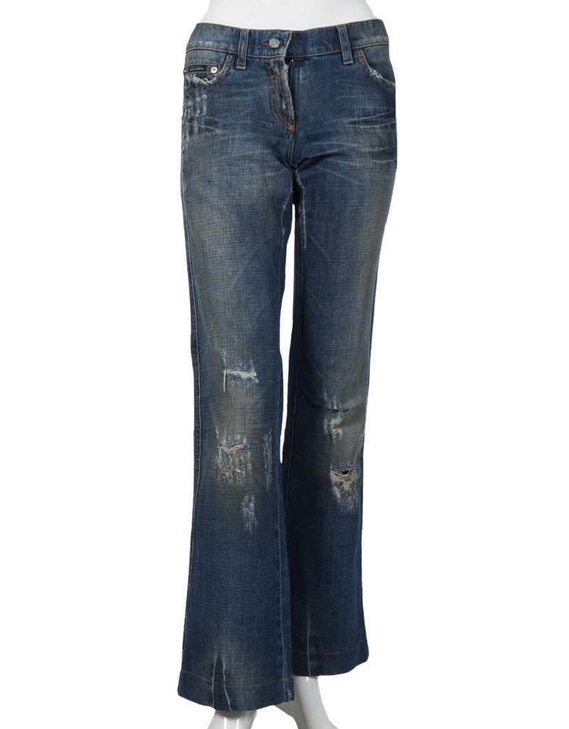 Bootcut Jeans im Destroyed Look NP:€220