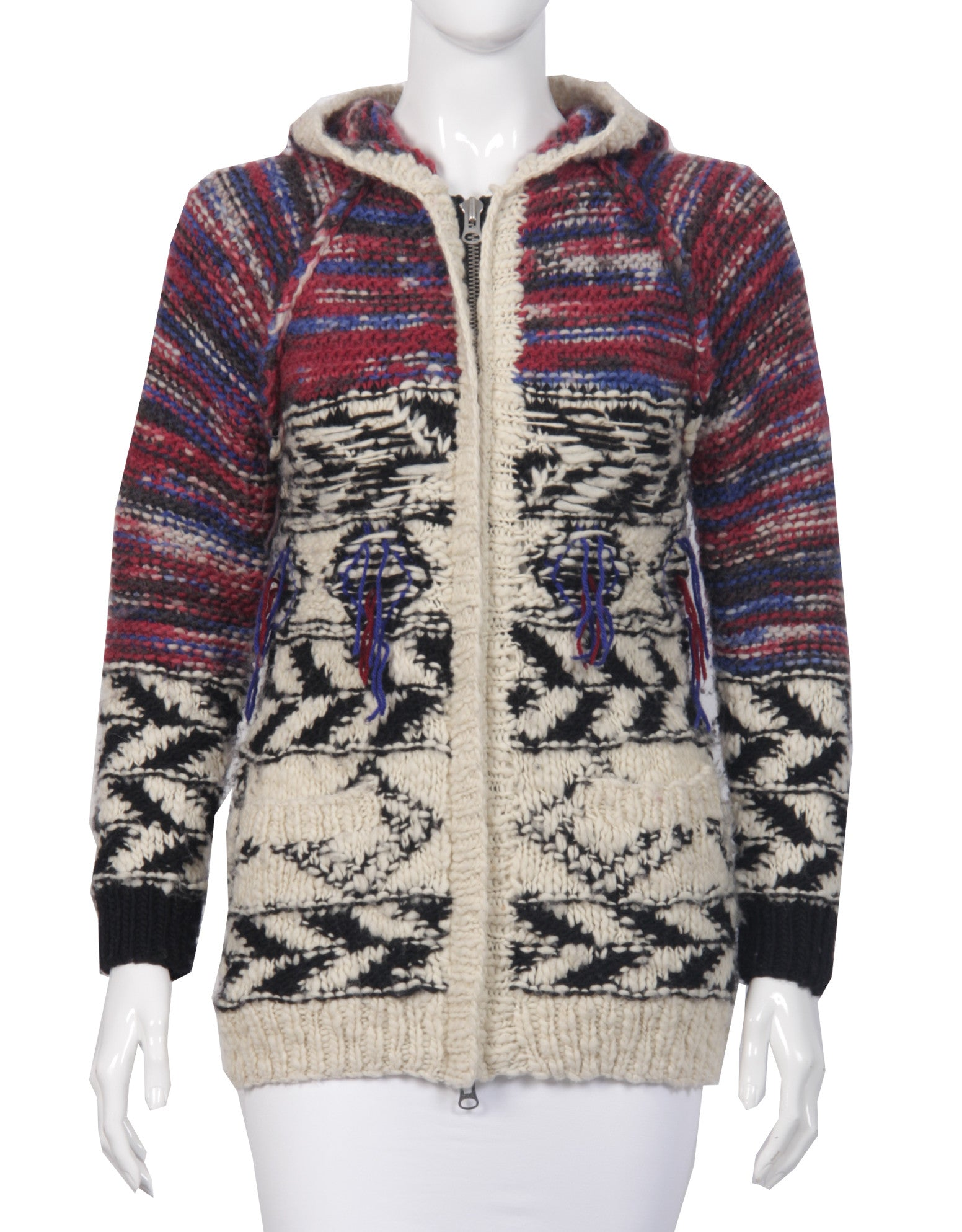 Isabel_Marant_pour_H_M_Cardigan_mehrfarbig_secondhand_seenbefore_front