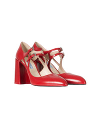 Prada aktuelle Kollektion Mary Jane Pumps Rot NP:€650