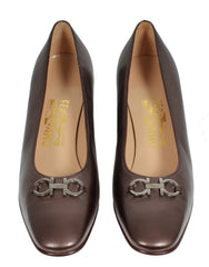 Salvatore_Ferragamo_Pumps_braun_metallic_secondhand_seenbefore_front