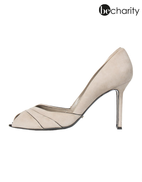 High Heels elegant in Taupe aus Wildleder NP:€550