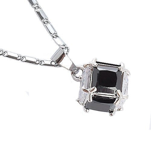 Cubic Zircon Style Swarovski Cut CrystalLove CubeCasual Costume Jewellery Pendant Necklace on a Fine Delicate Chain. Great Christmas Gift and for Anniversary at an Amazing 50% Knock Down Price.