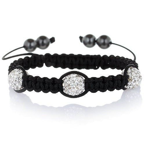 Shamballa Bracelets in 4 styles: Crystal Ball Tibetan Bracelets with Genuine Czech Crystals, in 4 styles. All crystal, Alternate, 3 crystal balls and Single Crystal Ball. WAS £29.99, Now £19.99