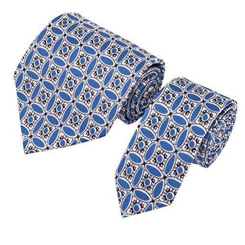 "Mens Floral ""TheEnglish Porcelain"" Silk Tie Set, With Pocket Square & Cufflinks, Gift Wrapped. 3 Piece Set. 100% Finest Quality Chinese Silk. Janeo British Apparel Designer Branded By Paresh Raja. Christmas Anniversary Ideas For Him"