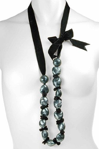 Long Gloss Beads Necklace,Womens Fashion Jewelry Perfect Gift for Her under £5