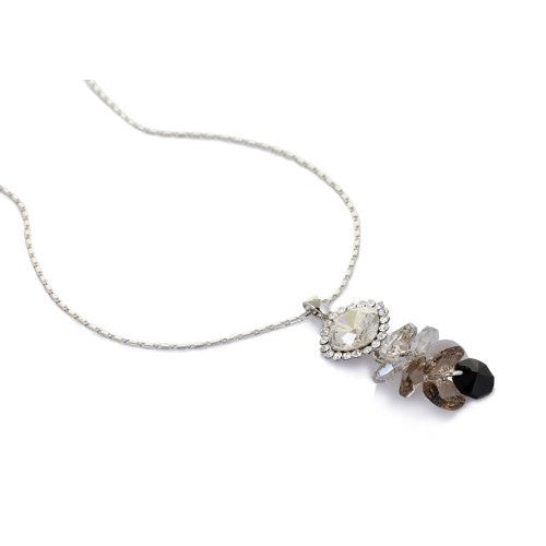 All Swarovski Beads and Crystals pendant necklace. Stunning, Simple and Vibrant Translucent Real Swarovski Crystal Beads Cluster on a Fine Silver Rhodium or 14K Gold Chain. Perfect Christmas Gift or Anniversary Jewellery For Her.