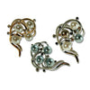 Decadent Pearls Brooch Pin, Art Deco Swirl Style w/ Swarovski & Czech Crystals, Precious Metal Plated