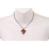 Gorgeous Hearts Crystal Pendant Necklace on Casual Cord Tie. Pure Swarovski Crystallized Elements Jewellery. A Perfect Christmas Gift or Anniversary Present Idea, at a Great Price