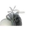 Classic Corsage Rose Flower Fascinator for Weddings or the Races, with a Sinamay bow and delicate feathers. Beautifully Sculptured, Simple and Timeless! Two colour options, and a great value price.