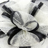 Occasion hats for Women, Wide Brim Fascinator for weddings or the Races, with bows shape centre and light feathers. Two colour options.Our'Richmond'Fascinator.