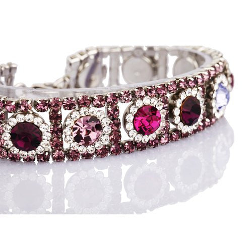 Swarovski & CZ Crystal Bracelet, Shimmering w/ Sparkle, the Narrow Cuff Bracelet is a Great Gift for her or Wedding Jewellery. Looks Precious and Very Special, 5 Colour Options in this design Rhodium or 14K Gold Plated. Stunning High Qualitiy Bangle.
