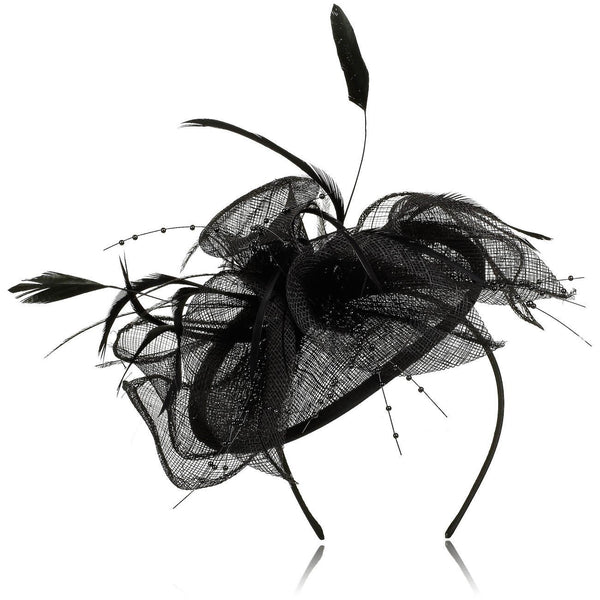 Parisian Style Hats for Women, Bouquet of Lilies Floral Fascinator for weddings or the Ball, with plumes and dainty feathers. Distinguished and elegant! Two colour options