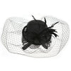 Mini Top Hat Fascinator for Weddings or the Races, with a Sinamay Fabric Bow and Corsage and Natural feathers. Timeless classic fascinator in Two colour options.Our 'Stirling' Fascinator.