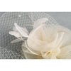 Rococo Style, Swirled Floral Cones Sculptured Fascinator for Weddings or the Party, with a netted veil and light feathers. Classy and elegant! Two colour option in classic Black or Ivory, Great Value 3 Pieces Headwear.