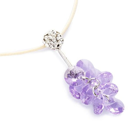 Pure Swarovski Crystals Elements Necklace, Our Swarovski Vine Necklace is a cluster of Crystallised Swarovski elements. 3 Colours - Hyacinth Red on 14K gold, Light Amethyst and AB Rainbow on Silver Rhodium Plating.