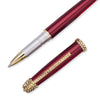 Swarovski Crystals Pen. 14K Gold, in 3 colours, Claret Wine, Prussian Blue or a Matt Gold all with Clear Swarovski Crystals Elements. Special Gift Boxed. Designer Gel Ballpoint Writing Material at Value Price for Luxury Presents Ideas.
