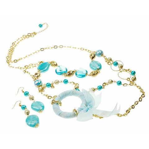 Costume Jewellery Fashion Necklace,Glass Beads Necklace & Earrings Set under £5
