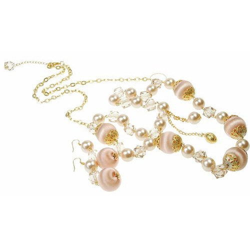 Fashionable long bead necklace, Perfect Costume Jewellery Gift under £10