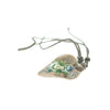 Mens Bead fashion necklace jewellery w/ a clay leaf design pendant. Great gift for under £10 for him.
