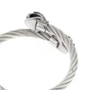Mens Or Womens Stunning Fashion Jewellery Gift for Christmas or Anniversary; Stylish Twisted Roped Effect Bangle Bracelet in Stainless Steel, Antique Finish, Fit Any Size, Expandable, Serpent Snake meet at Centre Design.