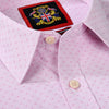 THE TRAFALGAR TRIO SHIRTS' Double Cuff Tailored Mens Shirts Pack of 3 with Cufflinks. Premium Quality Jacquard Weave. Pastel Office, Wedding Colours. White, Lt Pink, Sky Blue. 3 Pair Cufflinks in Gift Box