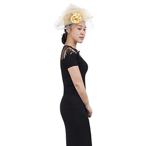 Janeo HENRIETTA Fascinator is a Parisian Pill Box Cap Classic and Sophisticated Structured with a folded lapel. Sinamay Fabrics , Champaign Beige, Electric Blue, Grey & solid Black. Amazing Price