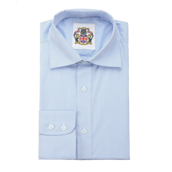 Janeo British Apparel Branded Long Sleeve Classic Fit Shirt. Fine Gingham Check in Single & Double Cuff Options.Soft Masculine Office Colours; Pink, Blue or Purple. Easy Care, Great Price and Unique Eco Friendly Packaging