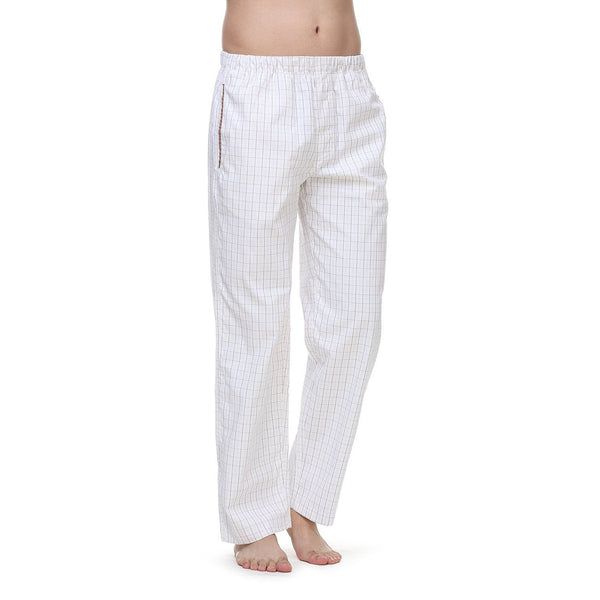 Janeo British Apparel Mens Pimlico Two Tone Hair line Check Lounge Night Wear Pyjama Trouser Bottoms Pants, with Side Pockets & Drawstring. Luxury Cotton Rich Mix Comfort Cosy Fabrics, Great Gift Idea, Supplied in Unique Matching Fabric Bag