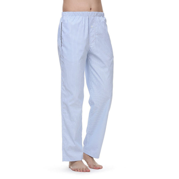 Janeo British Apparel Mens Fine Gingham, London Pinpoint Check Lounge Night Wear Pyjama Trouser Bottoms Pants, with Side Pockets & Drawstring. Luxury Cotton Rich Mix Comfort Cosy Fabrics, Great Gift Idea, Supplied in Unique Matching Fabric Bag