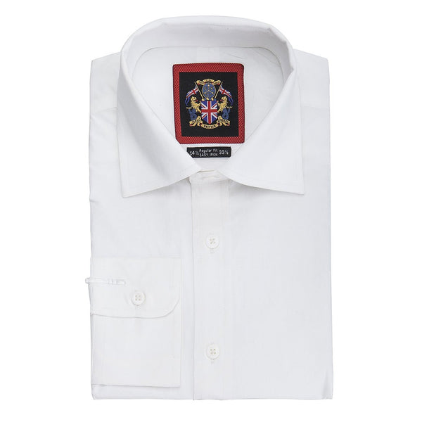 Janeo British Apparel Branded, The Classic London White Shirt; Single & Double Cuff Long Sleeve. 3 Whites, Plain, Self-Stripe & Self Checks. Soft Masculine Office Wear; 100% Giza Cotton.