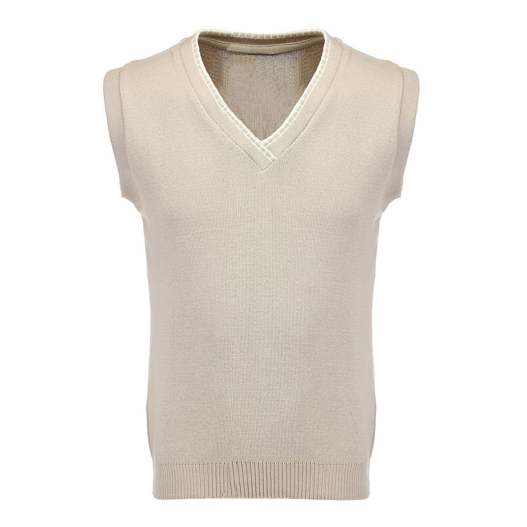 8789f6e2040 Sleeveless V Neck Top Sports Jumper, High Quality Combed Cotton Slipover.  Specially designed Golf, Cricket and Bowls Attire. 3 colours Oatmeal Beige  ...