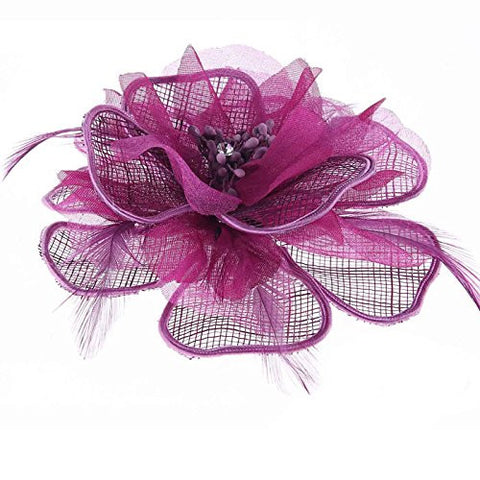 Small Occasion Wedding Hair Pieces or Corsage Flower Fascinator for Women. Beautiful, Non-Fussy and Statement Accessory, Great Price for Millinery, a Mini Hair Fascinator !